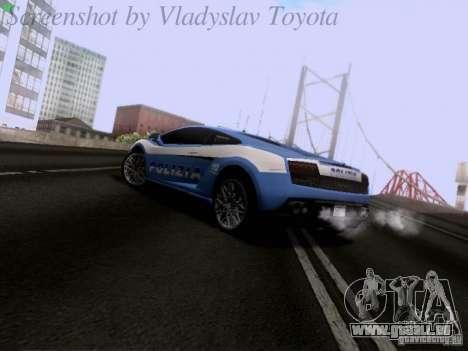 Lamborghini Gallardo LP560-4 Polizia für GTA San Andreas zurück linke Ansicht