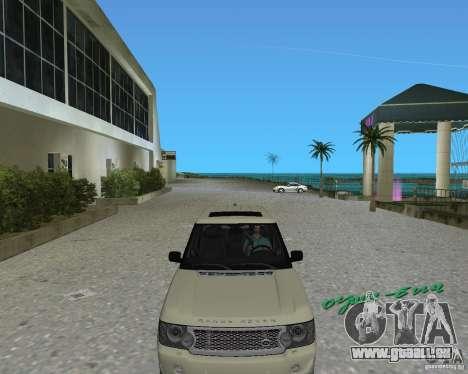 Rang Rover 2010 pour une vue GTA Vice City de la gauche
