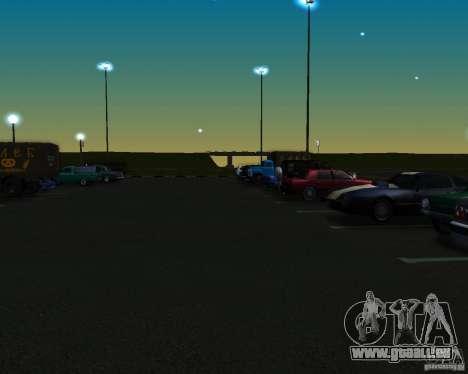 Voitures dans le stationnement à Anašana pour GTA San Andreas deuxième écran