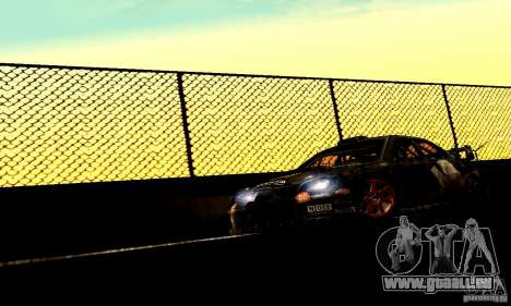 Subaru Impreza WRC 2007 für GTA San Andreas zurück linke Ansicht