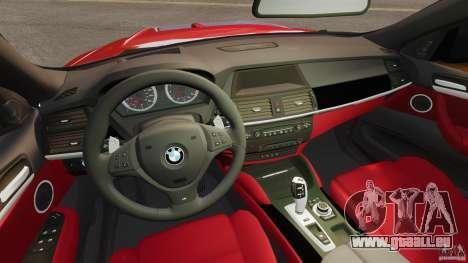 BMW X6 M 2010 pour GTA 4 Vue arrière