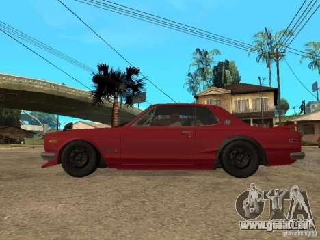 Nissan Skyline 2000 GT-R pour GTA San Andreas laissé vue