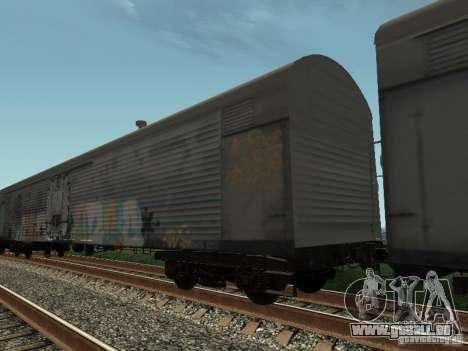 Refrežiratornyj wagon peint de Dessau no 8 pour GTA San Andreas sur la vue arrière gauche