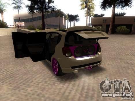Chevrolet Aveo Tuning für GTA San Andreas zurück linke Ansicht