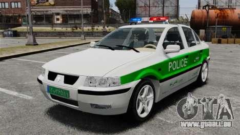 Iran Khodro Samand LX Police pour GTA 4
