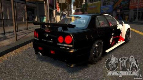 Nissan Skyline ER34 Nismo Z Tune pour GTA 4 Vue arrière de la gauche