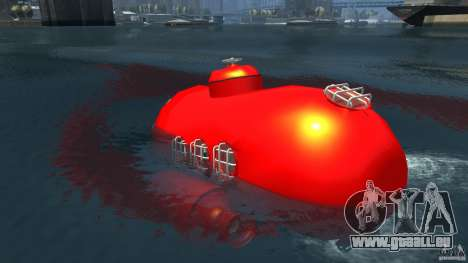 Submarine pour GTA 4 Vue arrière de la gauche