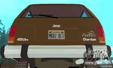 Jeep Grand Cherokee 1986 für GTA San Andreas Innenansicht