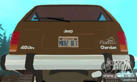 Jeep Grand Cherokee 1986 pour GTA San Andreas vue intérieure