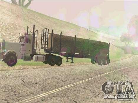 Remorque, Peterbilt 379 pour GTA San Andreas laissé vue