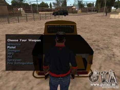 Armes à feu dans le coffre pour GTA San Andreas quatrième écran