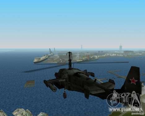 KA-50 pour une vue GTA Vice City de la gauche