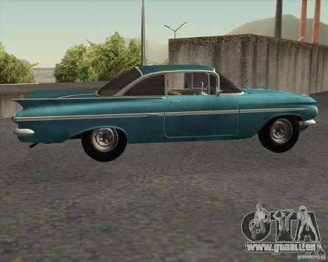 Chevrolet Impala Coupe 1959 Used pour GTA San Andreas laissé vue