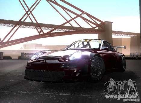 Porsche 911 GT3 RSR RWB für GTA San Andreas zurück linke Ansicht