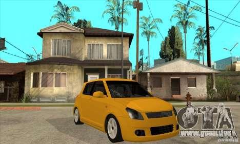 Suzuki Swift 4x4 CebeL Modifiye pour GTA San Andreas vue arrière