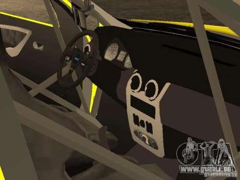 Dacia Sandero Speed Taxi pour GTA San Andreas vue de dessus