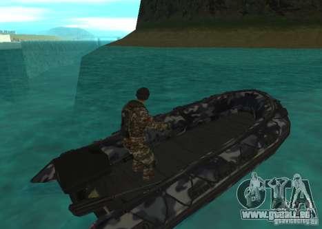 Zodiac-Schlauchboot für GTA San Andreas zurück linke Ansicht