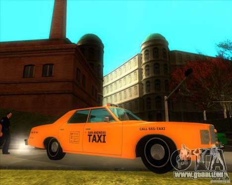 Ford Custom 500 4 door taxi 1975 für GTA San Andreas linke Ansicht