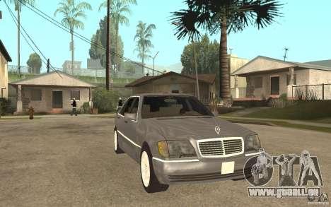 Mercedes-Benz S600 W140 für GTA San Andreas Rückansicht