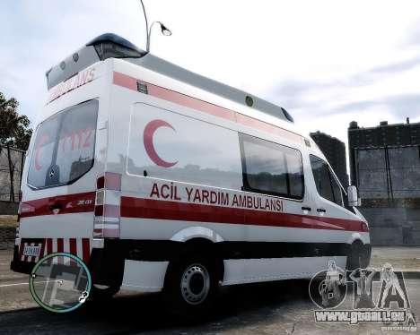 Mercedes Sprinter Turkish Ambulance für GTA 4 hinten links Ansicht
