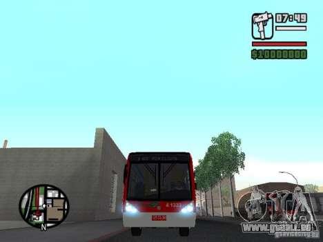 Caio Millennium TroleBus pour GTA San Andreas vue intérieure