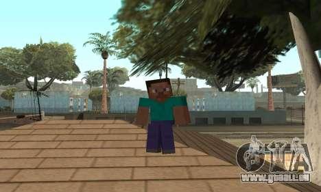 Steve de la peau de Minecraft jeu pour GTA San Andreas septième écran