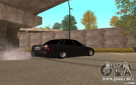 LADA Priora Licht v. 2 tuning für GTA San Andreas zurück linke Ansicht