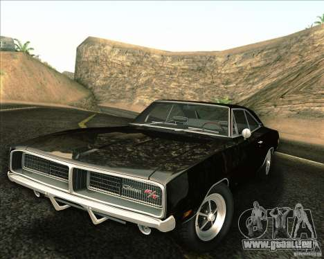 Dodge Charger RT 1969 pour GTA San Andreas vue de dessus