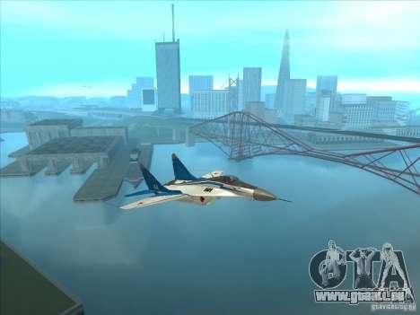 MiG-29 les martinets pour GTA San Andreas vue de droite