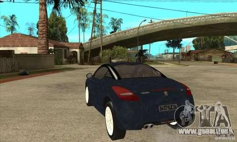 Peugeot RCZ 2011 pour GTA San Andreas sur la vue arrière gauche
