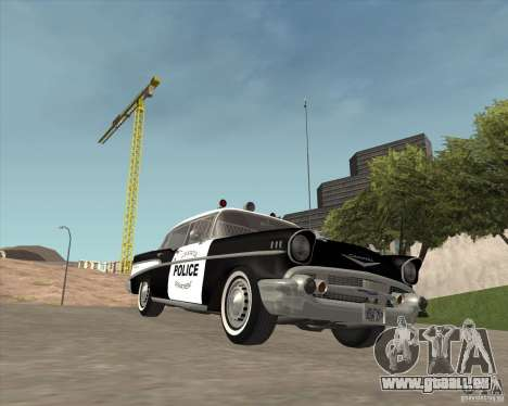 Chevrolet BelAir Police 1957 pour GTA San Andreas vue intérieure