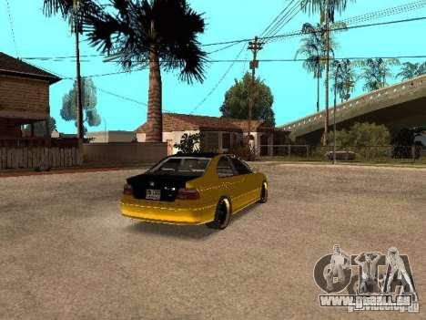BMW M5 für GTA San Andreas zurück linke Ansicht