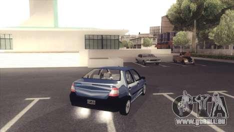 Fiat Siena 1998 pour GTA San Andreas sur la vue arrière gauche
