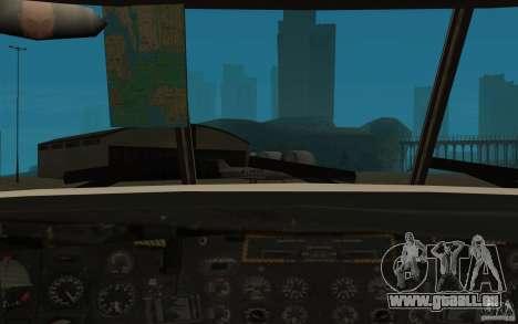 GTA SA Chinook Mod pour GTA San Andreas vue de côté