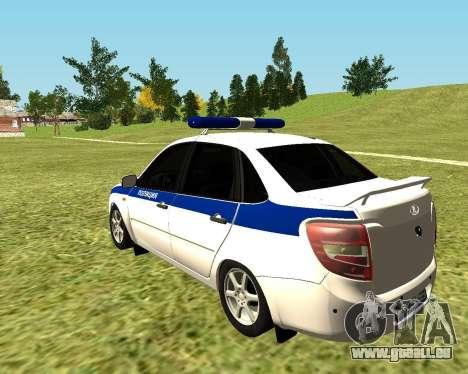 VAZ 2190 Police pour GTA San Andreas laissé vue