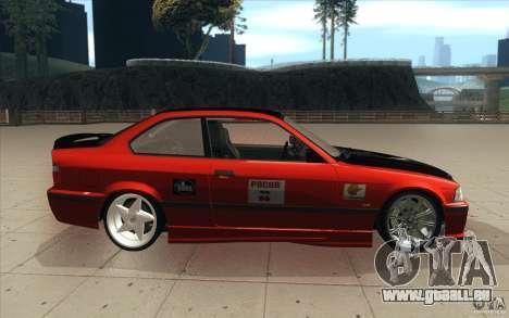 BMW Fan Drift Bolidas pour GTA San Andreas vue intérieure
