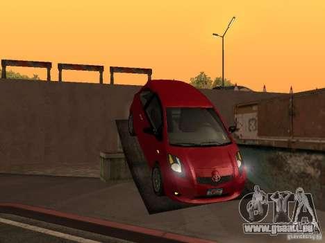 Toyota Yaris pour GTA San Andreas vue intérieure