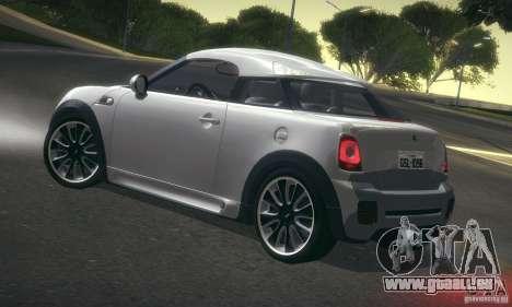 Mini Concept Coupe 2010 pour GTA San Andreas sur la vue arrière gauche