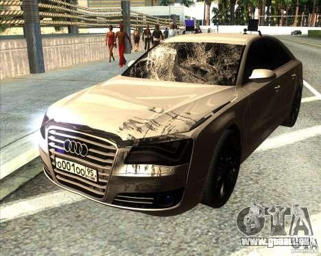 Audi A8 2010 v2.0 pour GTA San Andreas vue de dessous