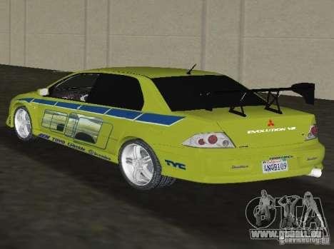 Mitsubishi Lancer Evolution VII pour une vue GTA Vice City de la gauche