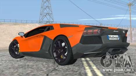 Lamborghini Aventador LP700-4 2012 für GTA San Andreas Innen