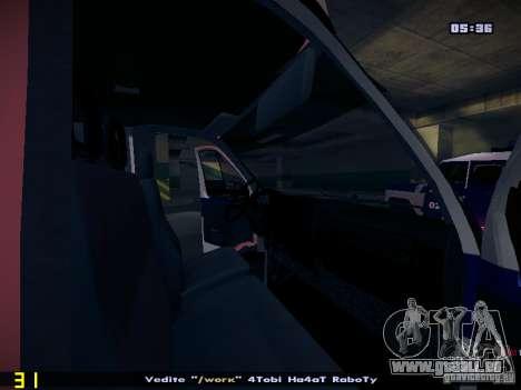 Gazelle 2705 Polizei für GTA San Andreas Innenansicht