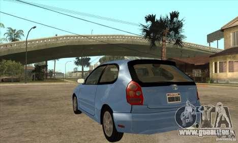 Toyota Corolla G6 Compact E110 US pour GTA San Andreas sur la vue arrière gauche