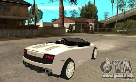 Lamborghini Gallardo Spyder v2 pour GTA San Andreas vue de droite