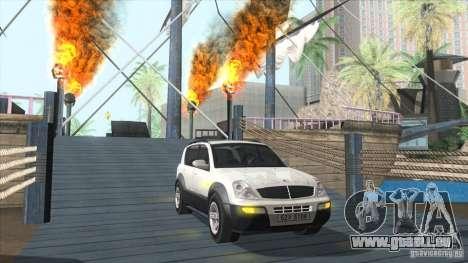 SsangYong Rexton 2005 pour GTA San Andreas vue de dessous
