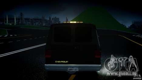Chevrolet G20 Police Van [ELS] pour GTA 4 est une vue de dessous