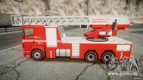 Scania Fire Ladder v1.1 Emerglights blue-red ELS pour GTA 4 est un droit