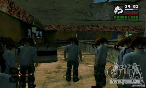 Crabe de tête pour GTA San Andreas quatrième écran