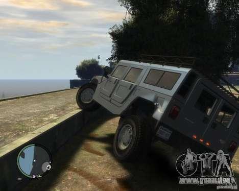 Hummer H1 pour GTA 4 est une vue de dessous