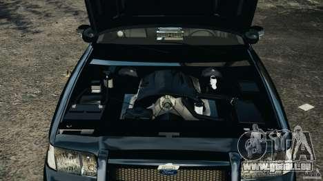 Ford Crown Victoria Police Unit [ELS] pour GTA 4 est une vue de l'intérieur
